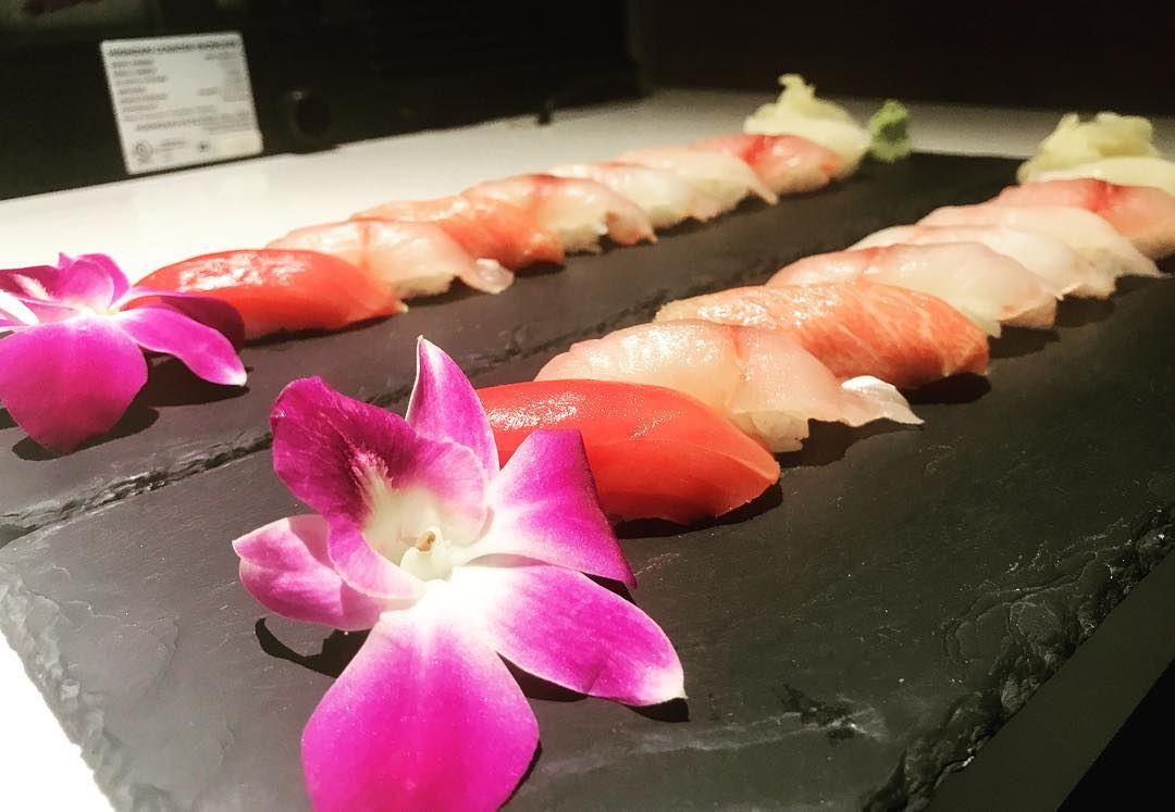 A display of sushi from Bluefin